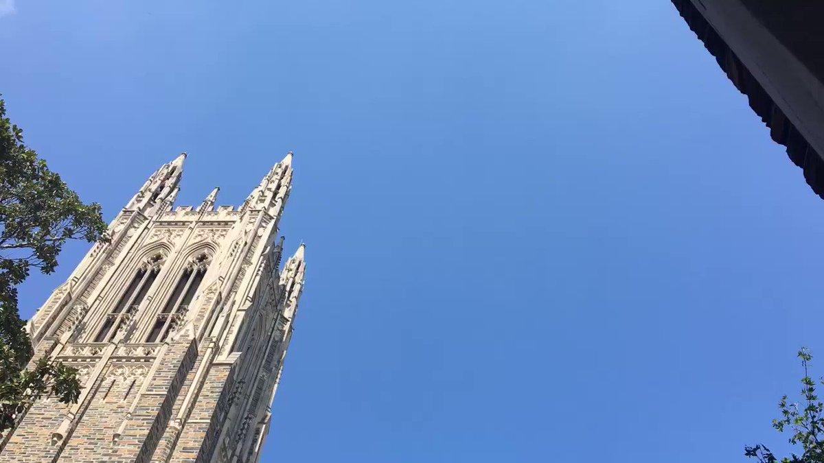 A flyover of Duke Chapel honors the fallen. #dukelifeflight https://t.co/vDpmwfdW35