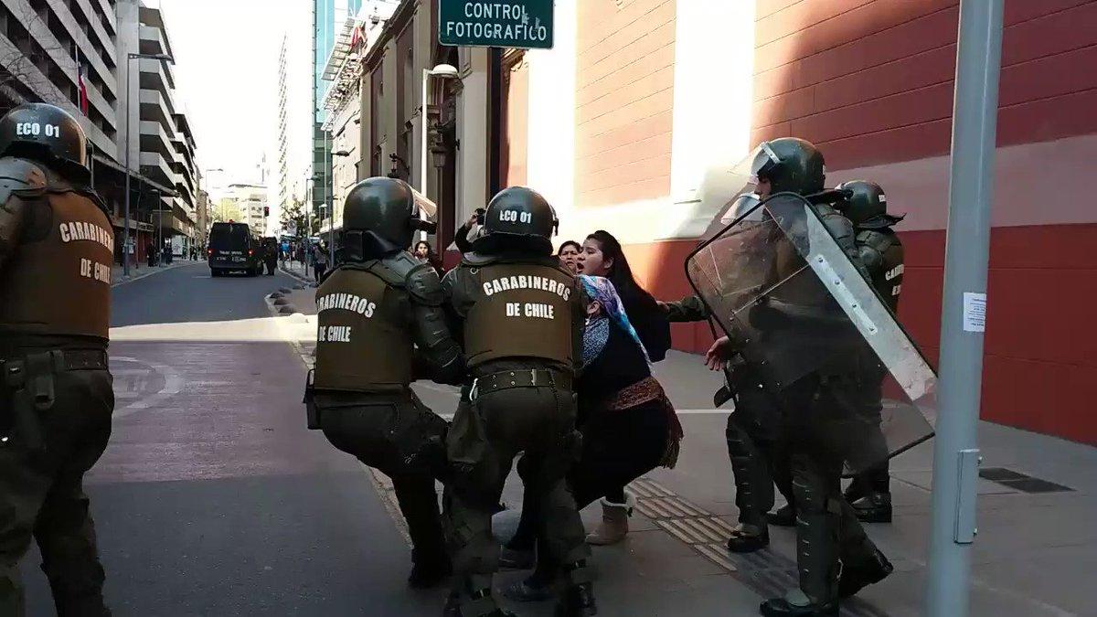AHORA Mujer #Mapuche es detenida con una...