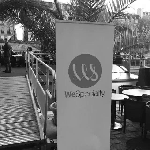 Image for the Tweet beginning: .@WeSpecialty sponsor des afterworks des