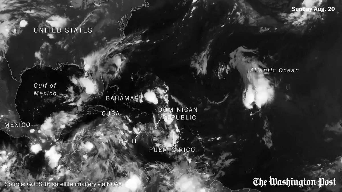 Watch five hurricanes churn through the Atlantic in one month https://t.co/LrguVNmPI6