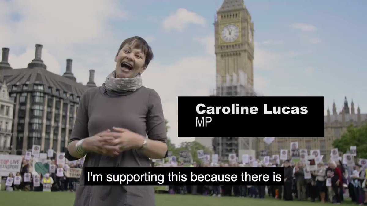 Thank you to @CarolineLucas for campaigning to #StopLiveTransport! Add...