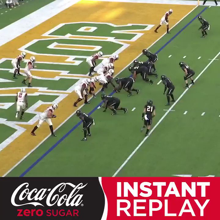 Ninety. Nine. Yards.  Oklahoma's end-to-end TD can be seen again on the @CocaCola Instant Replay. https://t.co/aoeLQGVOCY