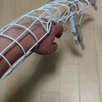 コスプレ用の『可動式大きな手』の骨格ができたよ!思ったよりもスムーズに動く!! pic.twitte…
