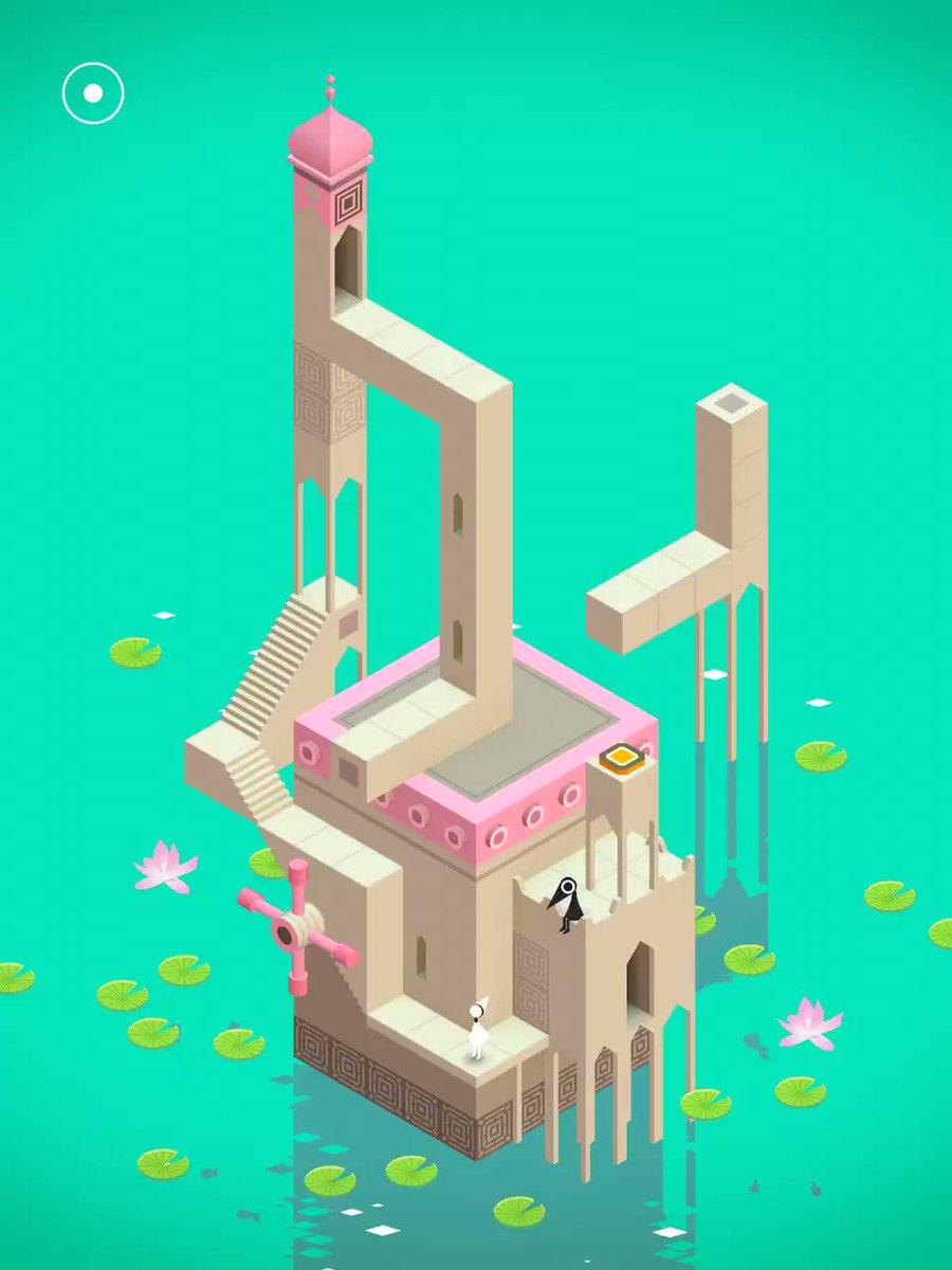 僕の超おすすめゲームアプリ紹介します。「Monument Valley」トリックアートの世界に閉じ込められたお姫様を助け出すパズルゲーム。仕掛けもグラフィックも色彩も音楽も天才が作ったとしか思えないくらい美しい。ていうかとにかくやばいので動画みて…もっと流行れ!! pic.twitter.com/MRdCua3kxP