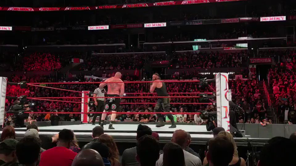 Brock Lesnar vs Braun Strowman for the WWE Universal Championship #WWE...