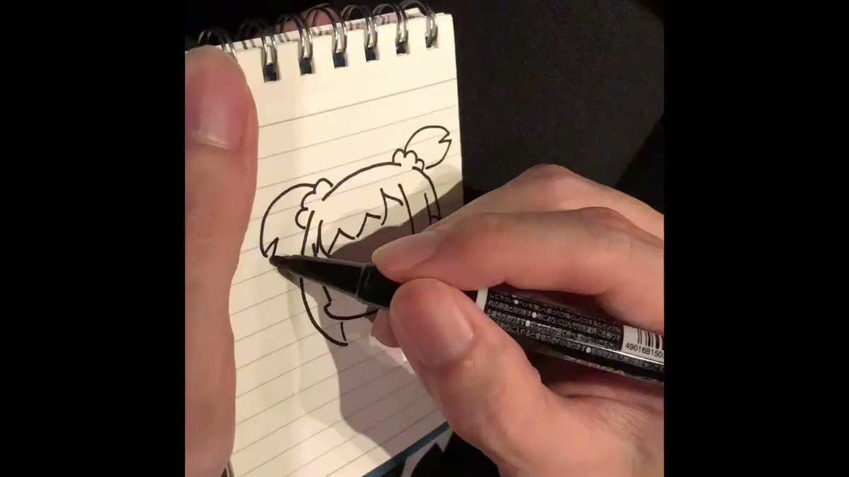 大川ぶくぶ先生にポプ子を描いて頂いた動画❤️