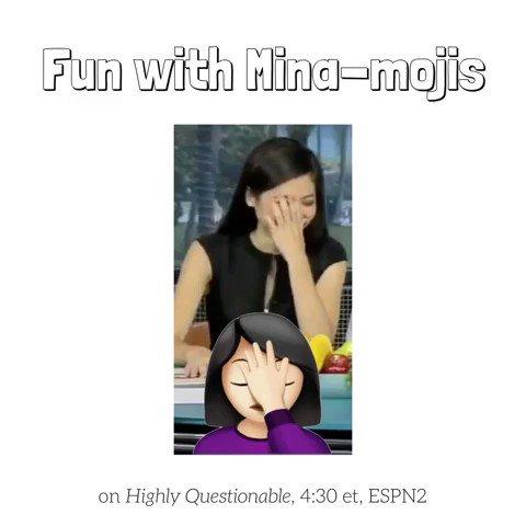 .@minakimes channels her inner emojis on @HQonESPN - she hosts #HQ the remainder of the week, 4:30 ET, ESPN2 https://t.co/7hTvGndJ52