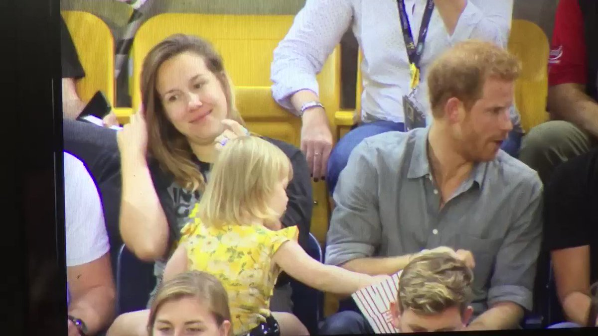 Toddler steals Prince Harry's popcorn because she doesn't care for your royal airs and graces