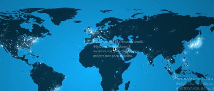 呟かれたツイートの数を光で表示するサイトなんだけど、バルスが呟かれた瞬間の日本の様子がこちら
