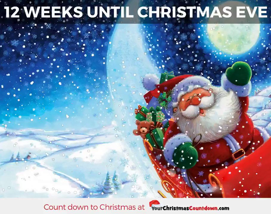 your christmas countdown on twitter 12 weeks until christmas eve click the link to see the live countdown httpstco08kjvawqc2 - Weeks Until Christmas