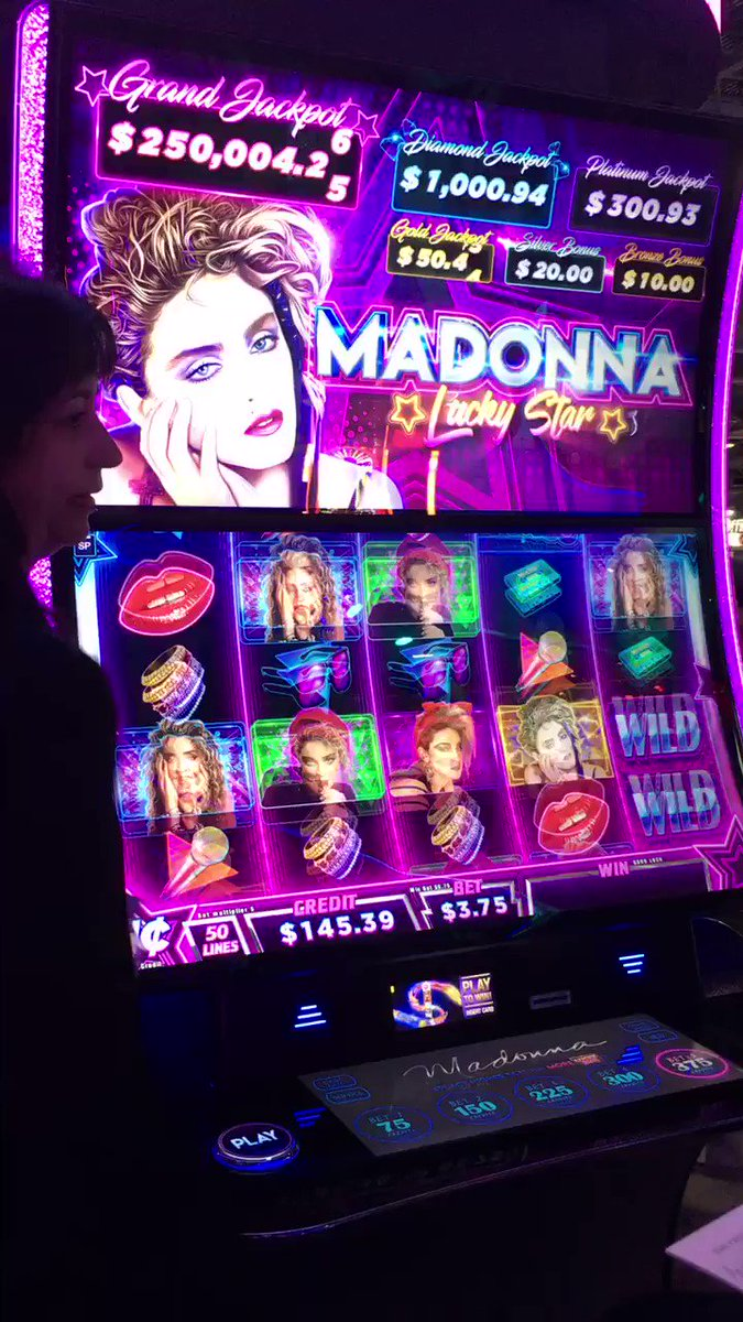 Madonna slot machine! Rep was a bit excited