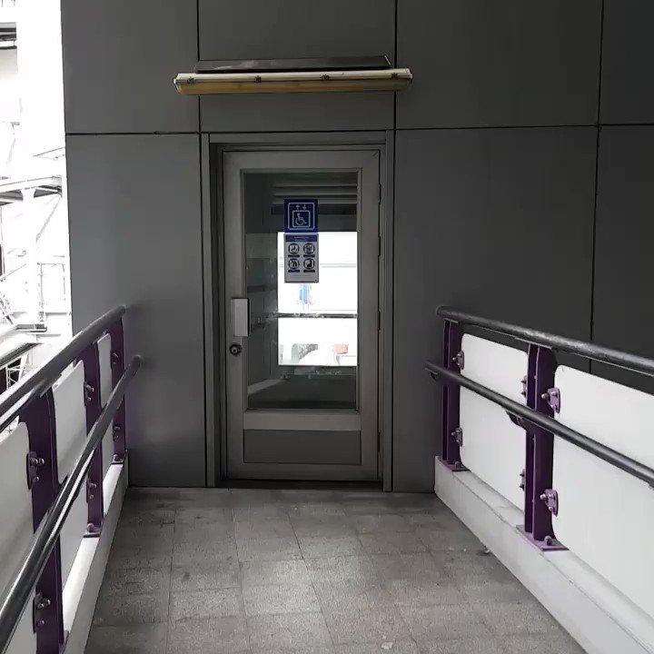 ลิฟท์ให้คนพิการใช้ที่ @BTS_SkyTrain ช่อง...