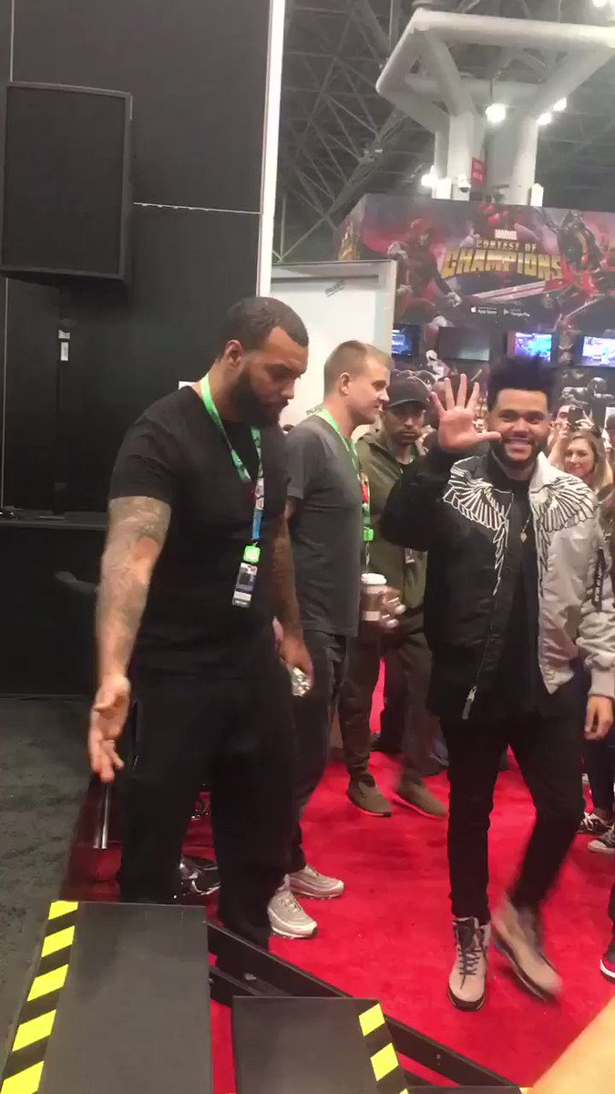 Starboy makes his #nycc debut! @theweeknd https://t.co/hLG9IztlRL