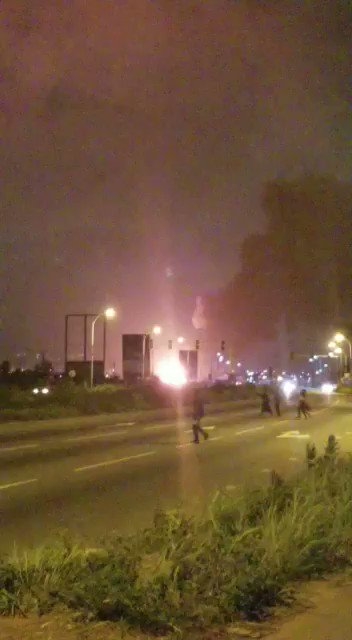 Huge Gas Explosion in Ghana sends Massive Fireball into the Sky