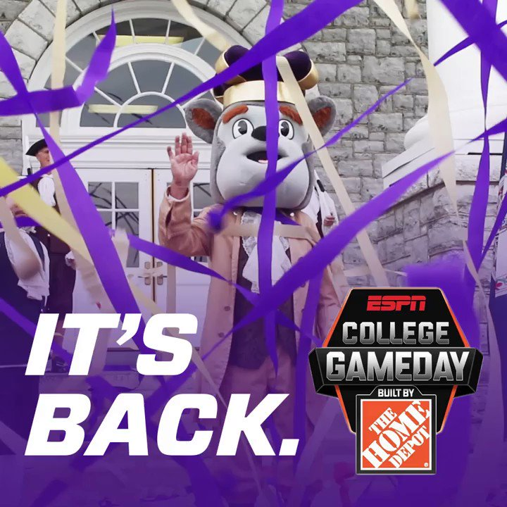 It's official. @CollegeGameDay is coming back to #JMU. See you on the 14th. #GoDukes https://t.co/KXSzScHyAK