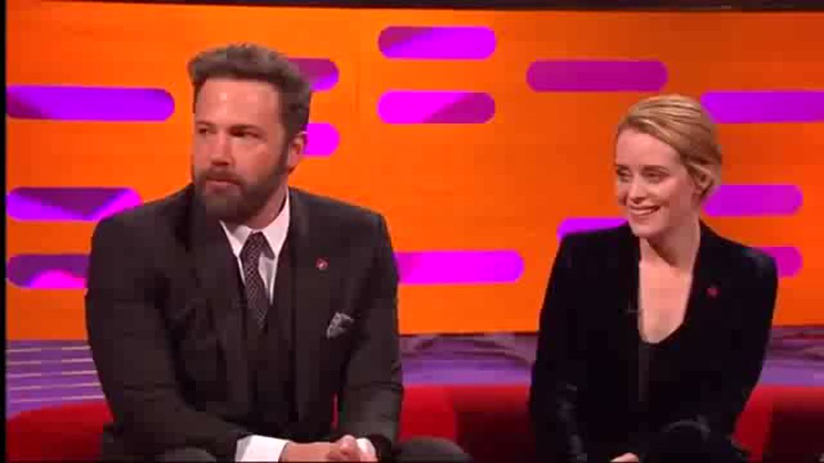 matt smith and ben affleck explaining what netflix and chill means to a very confused claire foy