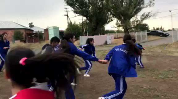 """Girls working together to """"tag"""" the obstacles in their path to success! #armenia #GirlsTakeover #BecauseIamagirl @games4good @UNArmenia"""
