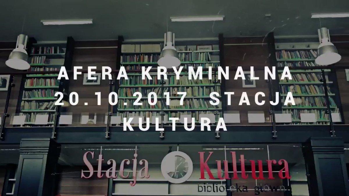 #StacjaKultura zaprasza na #AferaKryminalna #2017 https://www.facebook.com/StacjaKulturaRumia/videos/1485257634894696/…