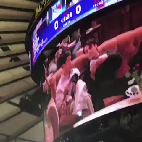 so this happened at a rangers game (watch until the end)
