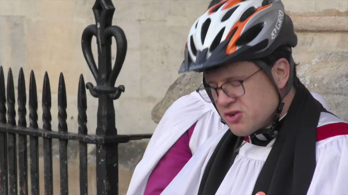 The first Cambridge, UK, bicycle blessing. @GreatStMarys @CamCycle https://t.co/2P0jeUSTks