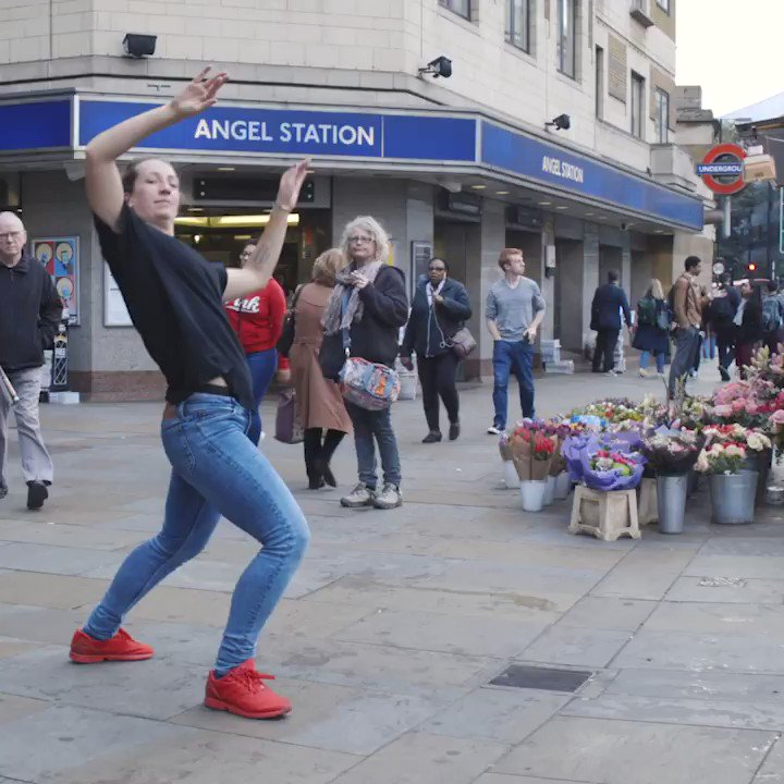 Who doesn't love an impromptu jam? Our dancer Ash Moon gets down to Hollis Parker's track 'Up And Down' with our new fav passer-by Claudia.