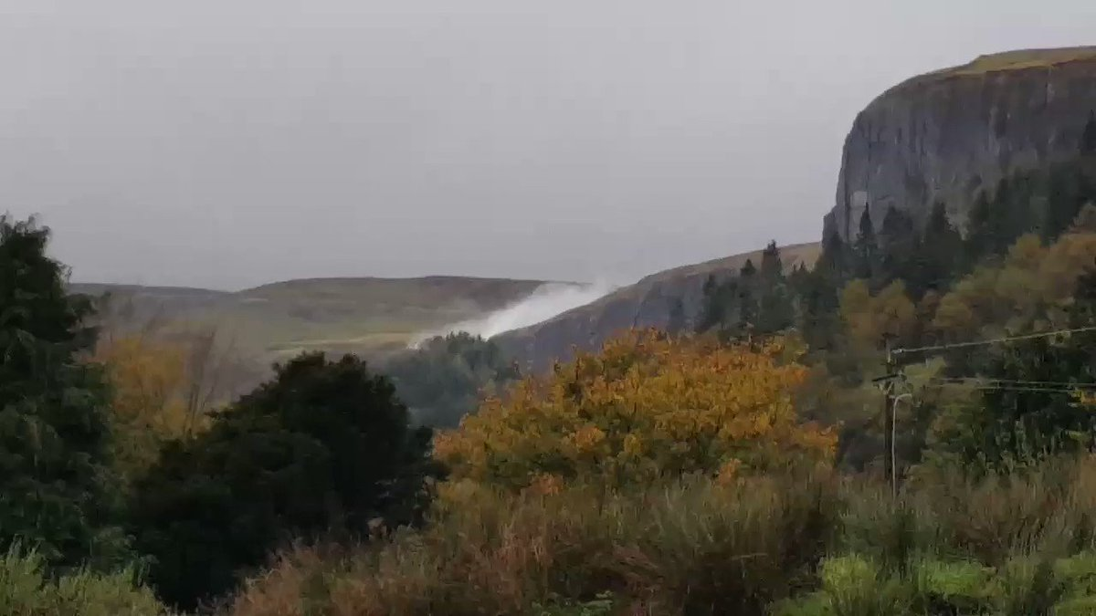 Here in #Sligo we have yon Upsidedown waterfall    Which is also the tallest waterfall in Ireland oh yes it is #Ophelia @sligowalks