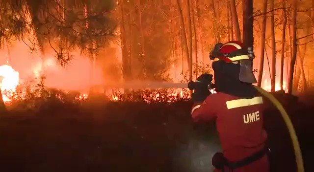 Siguen los esfuerzos de @UMEgob colaborando en la extinción de incendios #IFF en #Galicia https://t.co/Mbm19hg2jW