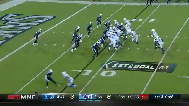 The #Colts take their first lead of the game on @JBrissett12's TD pass...