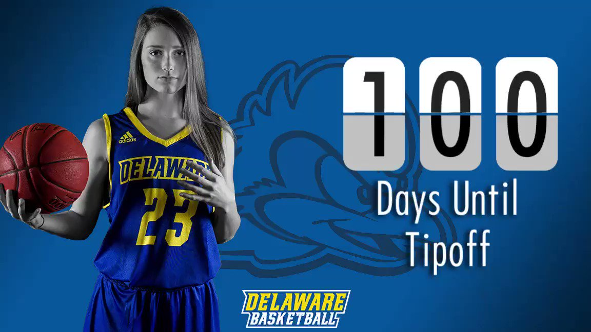 #Countdown #FirstGame 23 DAYS!!! @baileykargo #BlueHens 🏀🎉💪👏