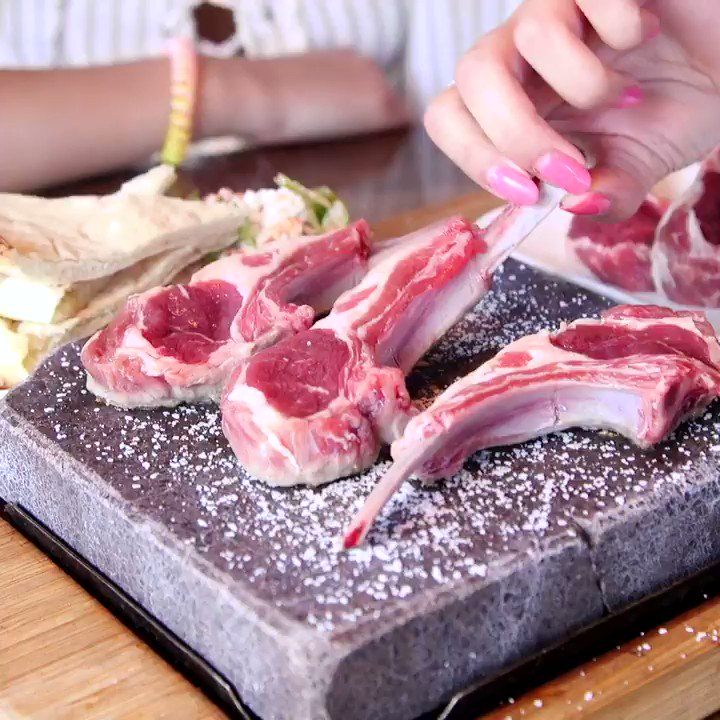 Cook your meat on a lava stone for some...