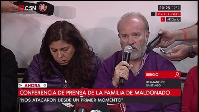 Sergio Maldonado a los periodistas: 'Tengan en cuenta que hay una fami...