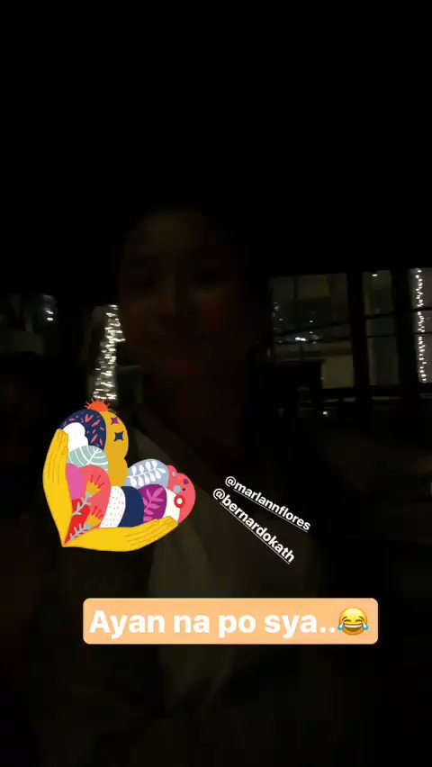 Ate girls' night. Kathryn with Marlann a...