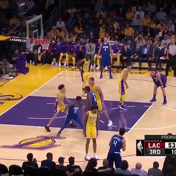 "Patrick Beverley hit Lonzo with the ""You can't see me."" https://t.co/5Kf6GG8uh0"