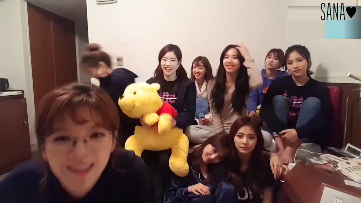 Sana got embarrassed off her own voice 😂...