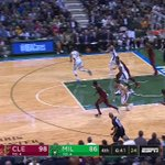 RT @espn: Giannis vs. LeBron fast break 👀 https://...