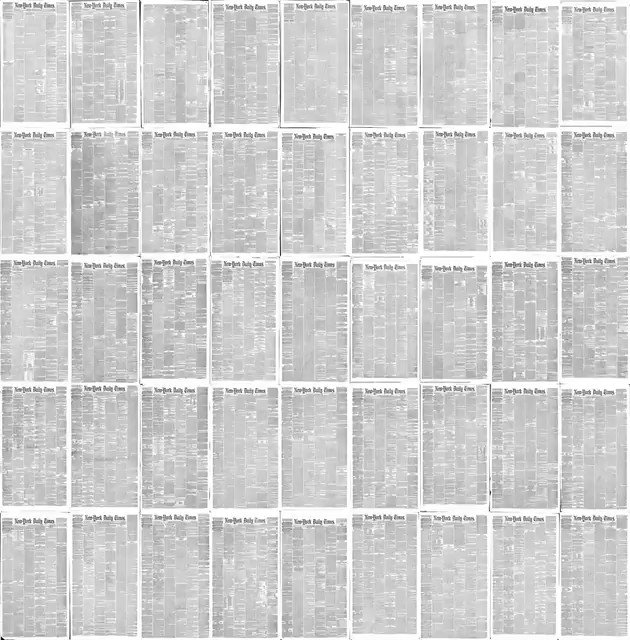 Every New York Times front page since 1852, via @joshbegley