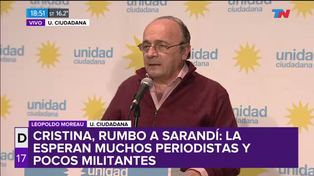 Moreau, desde el búnker de Unidad Ciudadana: 'Nuestro boca de urna nos...