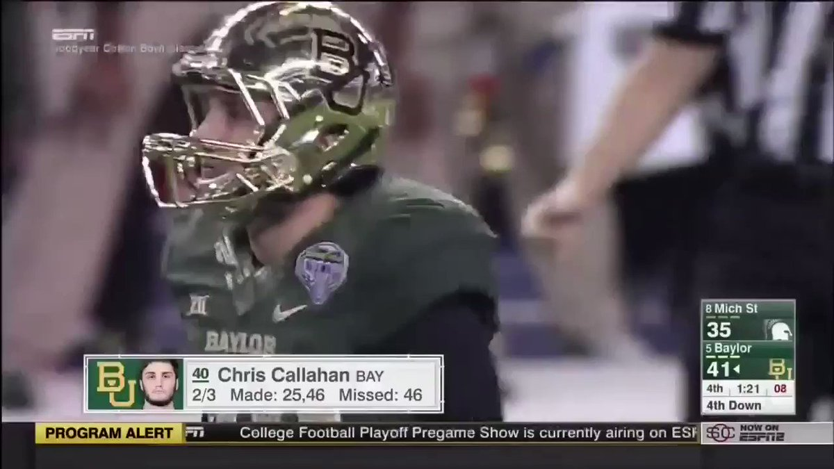 Y'all remember the kicker that Tony Lippett absolutely leveled on this play?  His name is Chris Callahan, and he now works at Michigan State as a development associate in the athletic department!  Kudos to @TomIzgoat for finding this out!