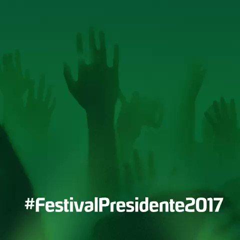 Nos vemos el viernes #FestivalPresidente2017 https://t.co/WC3gr1L62N