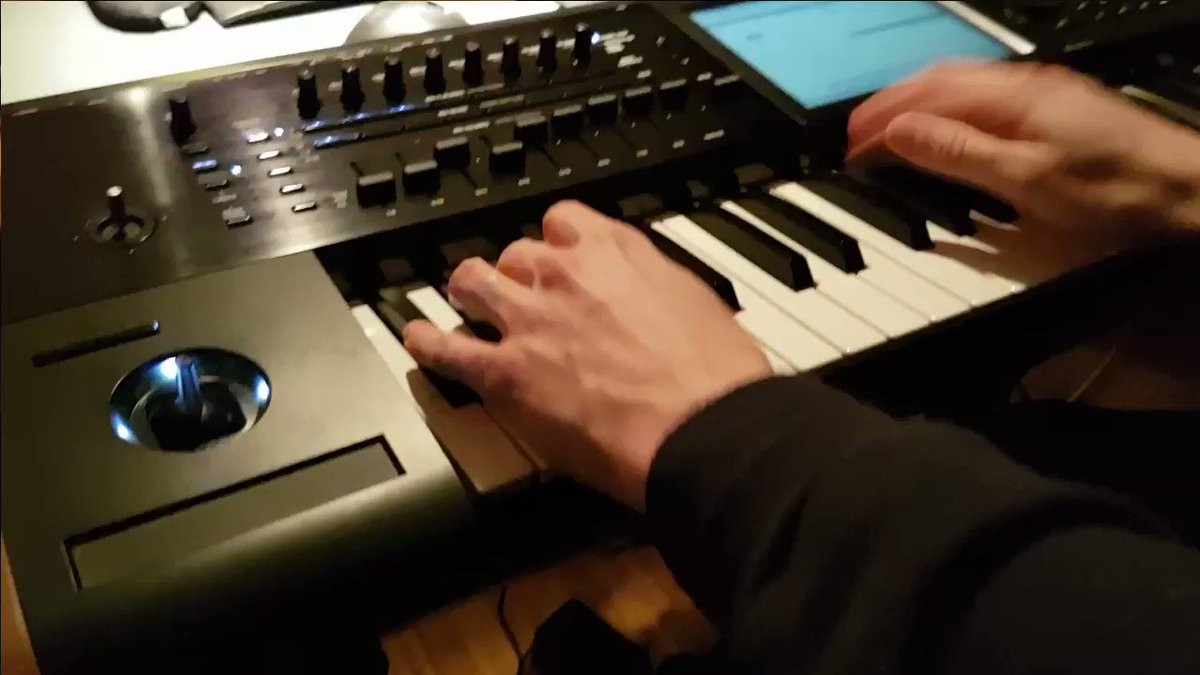 playing drums on the korg kronos, ...  next album's nearly finished! https://t.co/hcR66pIkMP