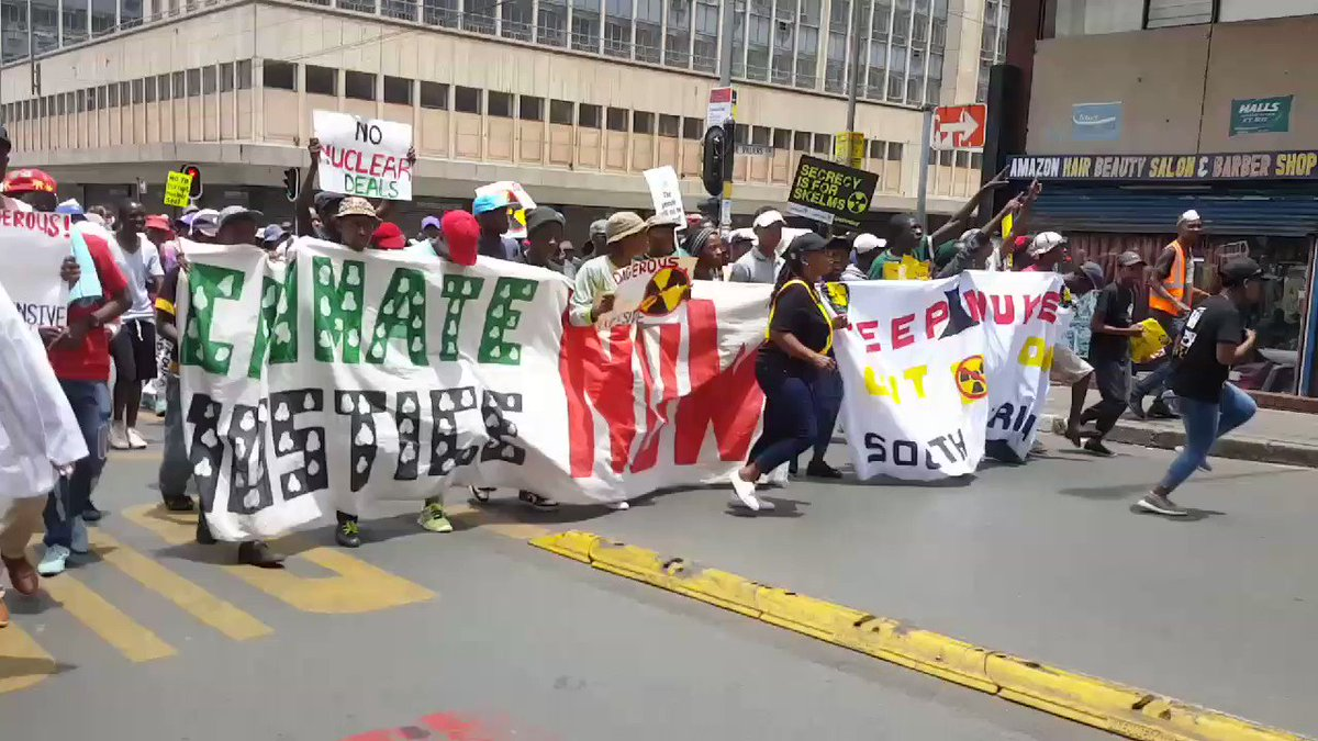 #GlobalDayOfAction2017- as the March proceeds to ESKOM regional office braamfontein