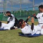 明日最終日を迎える鴨川秋季キャンプ。本日も打撃練習のあとに強化トレーニングをする野手陣。 #chib…