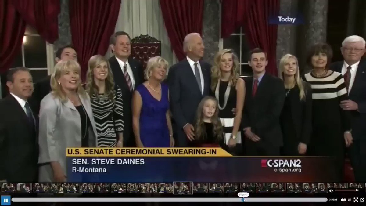In this clip, former Vice President Biden uses a candid moment to fondle the chest area of a little girl -- in front of her entire family. Her visible discomfort is extremely obvious.