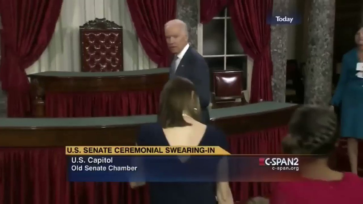 """Biden almost always seems to immediately inquire about the age of the girls he meets during these ops. He also has a habit of creepily saying """"no serious guys till you're 31."""" """"Serious"""" guys? The way he handles young girls is discomforting to watch. You can see it on their faces."""