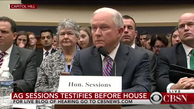 """🔥""""I do not recall.🔥 As the leader of the Dept of *Justice*, AG Lyin' Jeff #Sessions has a memory block when it comes to telling the TRUTH‼️ #SessionsHearing"""