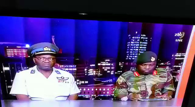 RT @dewamavhinga: #Zimbabwe Military take over video published on#ZBC TV at 4am local time https://t.co/5zfplo80h3