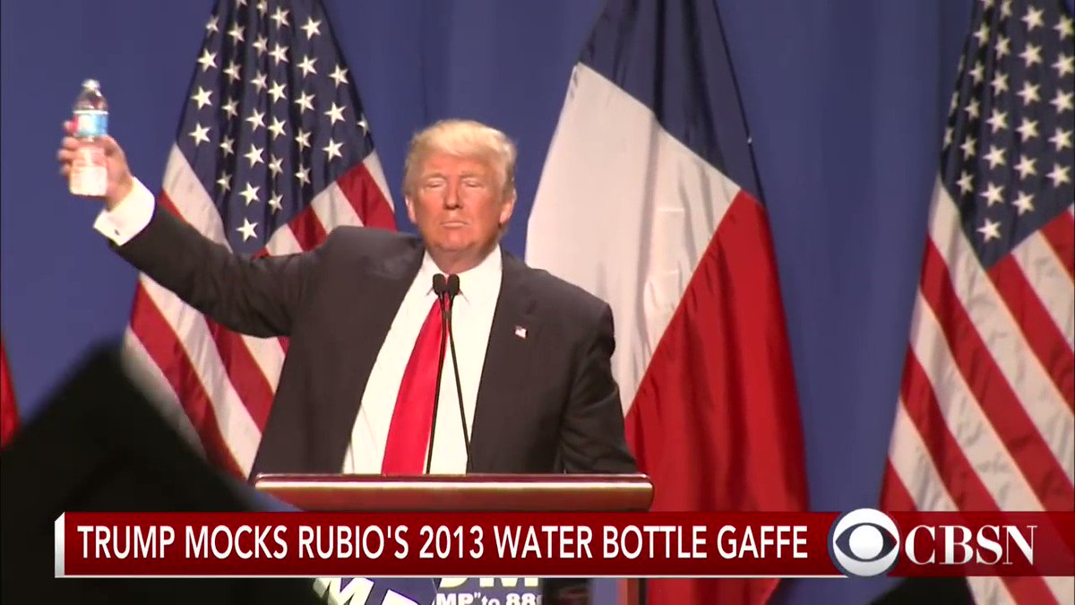 RT @kylegriffin1: More than a tweet, there's also a video of Trump mocking Rubio's SOTU water moment. https://t.co/dkKyrOIUGO