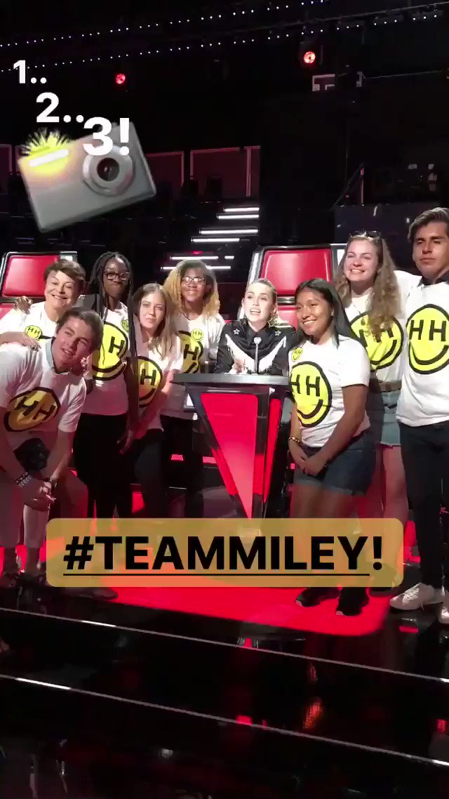 #TeamMiley @happyhippiefdn @nbcthevoice! youth from @HappyHippieFdn partners @myfriendsplace and @seedsofpeace https://t.co/l1iKxckrZ4