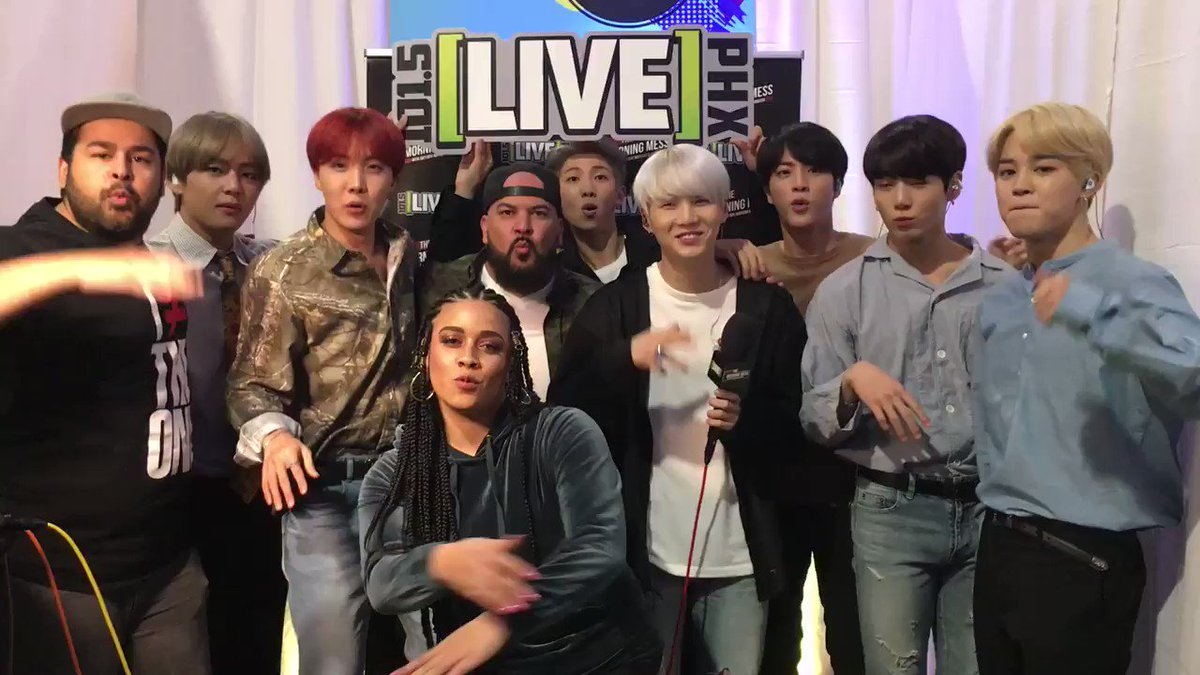 @live1015phoenix had an amazing time with our new friends @BTS_twt #BTSARMY #BTSwithTheMESS https://t.co/tLOuVm3lVy