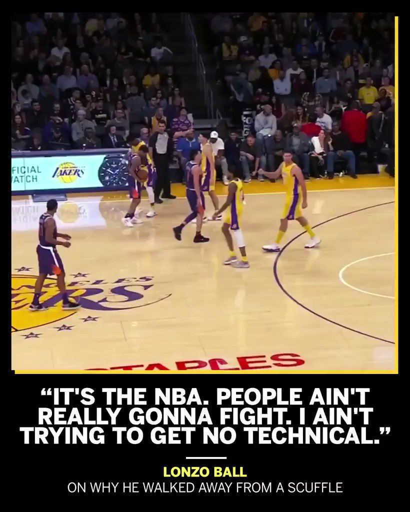 Lonzo was just trying to avoid any trouble on Friday. https://t.co/6l2GYeHXgG